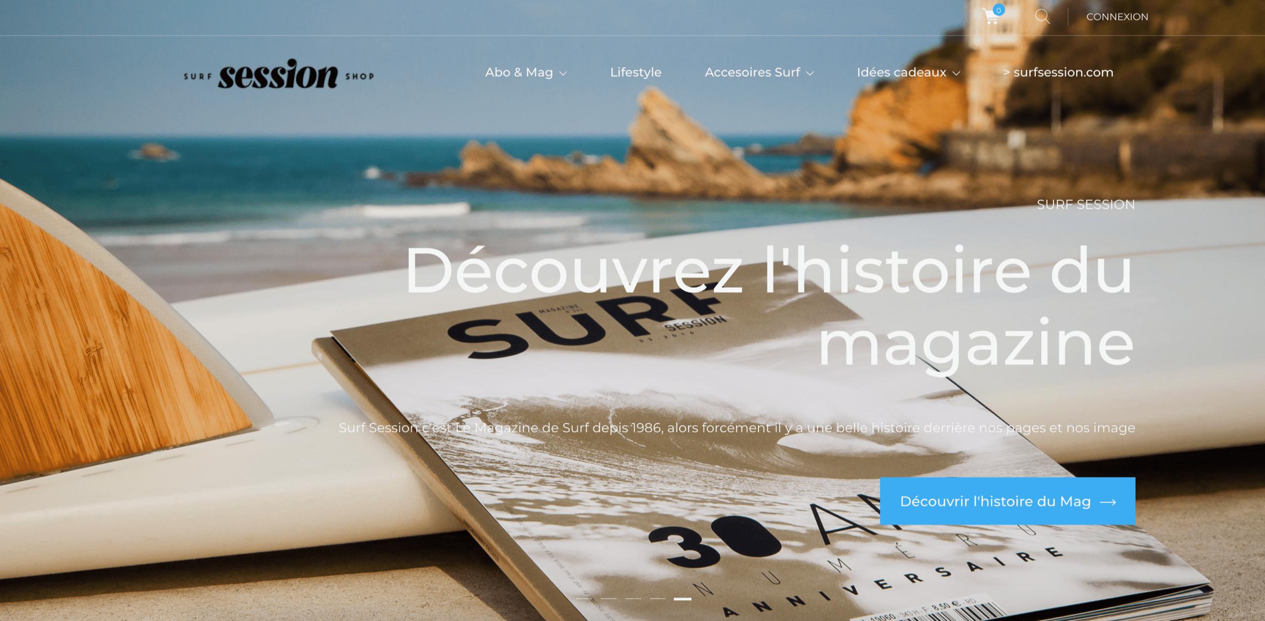 Site e-commerce Surf Session & Comptoir Digital